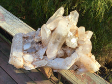"Load image into Gallery viewer, Lemurian Quartz Crystal Large 18 Lb. Cluster ~ 12"" Long ~ Frosted Pink Ancient Points ~ Feng Shui, Reiki, Meditation, Centerpiece Décor"