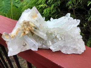 "Sparkling Quartz Crystal Large 2 Lb. 15 oz. Cluster ~ 7"" Long ~ Big Water Clear Points ~ Reiki, Yoga, Room Display ~ Fast & Free Shipping"