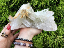"Load image into Gallery viewer, Sparkling Quartz Crystal Large 2 Lb. 15 oz. Cluster ~ 7"" Long ~ Big Water Clear Points ~ Reiki, Yoga, Room Display ~ Fast & Free Shipping"