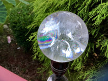 "Load image into Gallery viewer, Clear Quartz Large 8.8 oz. Crystal Ball ~ 2"" Wide Sphere ~ Rainbow Inclusions ~ Beautiful Reiki, Altar, Feng Shui Display ~ Fast Shipping"