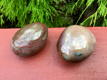 Load image into Gallery viewer, Bloodstone Duo of Polished Palm Stones ~ Beautiful Red, Green and White Colors ~ Perfect for Meditation, Sharing, Altar, Grids, Reiki, Gifts