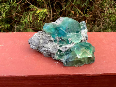 "Fluorite Crystal 10 oz. Cluster ~ 3"" Long ~ Rare Blue Green Colors ~ Sparkling Matrix ~ Sacred Geometry Formation ~ Fast & Free Shipping"