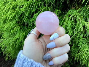 "Sparkling Pink Rose Quartz Large 4.9 oz. Crystal Ball ~ 1"" Wide ~ Big Polished Sphere ~Beautiful Reiki Altar Display ~ Fast & Free Shipping"