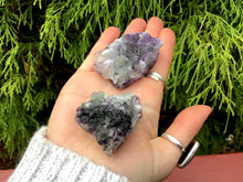 Load image into Gallery viewer, Purple Fluorite Crystals Pair of Pocket or Altar 2 Gorgeous Crystals ~ 4.1 oz. Total Weight Perfect for Meditation, Third Eye, Gifting Décor