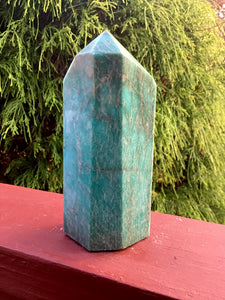 "Amazonite Generator Gemstone Crystal 1 Lb. 5 oz. Tower ~ 5 1/2"" Tall ~ Natural Polished Point ~ Beautiful Mineral Specimen ~ Fast Shipping"