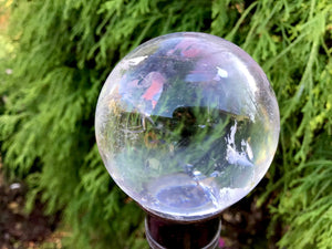"Quartz Crystal Ball 5.9 oz. Ultra Clear Polished Sphere ~ 1 1/2"" Wide ~ Big Beautiful Reiki, Altar, Feng Shui, Meditation Room Display"