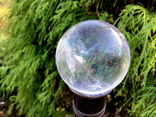 "Load image into Gallery viewer, Quartz Crystal Ball 5.9 oz. Ultra Clear Polished Sphere ~ 1 1/2"" Wide ~ Big Beautiful Reiki, Altar, Feng Shui, Meditation Room Display"