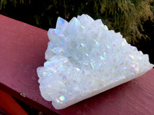 "Load image into Gallery viewer, Angel Aura Quartz Crystal Large 1 Lb. Cluster ~ 4"" Long ~ Electric Pearlescent White Rainbow Iridescent Sparkling Points ~ Reiki Altar"