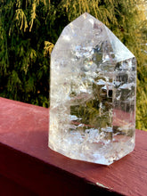 "Load image into Gallery viewer, Ultra Clear Quartz Crystal 1 Lb. 5 oz. Generator ~ 4"" Tall ~ Rainbow Inclusions Incredible Transparency Beautiful Display ~ Fast Shipping"
