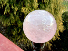 "Load image into Gallery viewer, Rose Quartz 8.6 oz. Crystal Ball ~ 1 1/2"" Wide Big Polished Sparkling Pink Sphere ~Beautiful Reiki Altar Display ~ Fast Free Shipping"