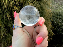 "Load image into Gallery viewer, Clear Quartz Large 4.7 oz. Crystal Ball ~ 1 1/2"" ~ Sphere Rainbow Inclusions ~ Beautiful Display Reiki Altar Feng Shui ~ Fast Free Shipping"