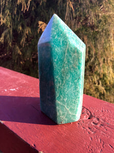 "Amazonite Gemstone Crystal Large 7 oz. Generator ~ Natural Polished Tower ~ 3"" Tall ~ Beautiful Mineral Specimen ~ Free & Fast Shipping"