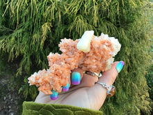 "Load image into Gallery viewer, Heulandite and Stilbite 2.7 oz. Crystal Cluster ~ 5"" Long ~ Intense Peachy Orange Color ~ Stunning Mineral Combination ~ Beautiful Zeolite"