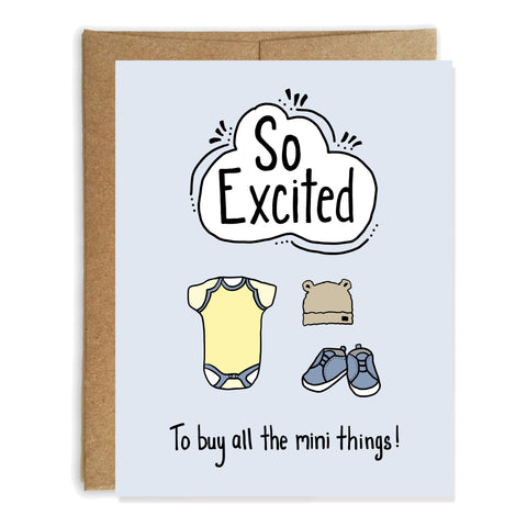 All the Mini Things, New Baby Card - NEW