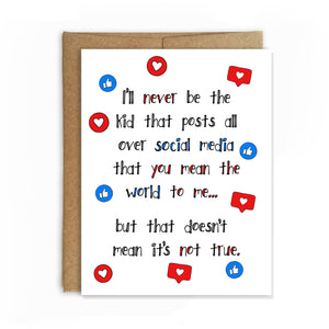 Anti Social Media, Mother's Day Card - NEW
