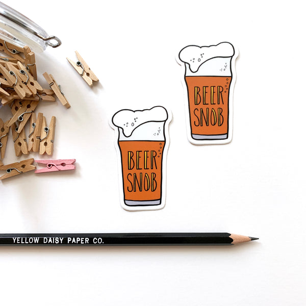Beer Snob, Beer Vinyl Sticker