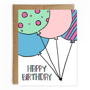 Birthday Balloon Bunch Card
