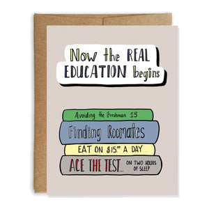 High School Graduation Card, College Education - NEW