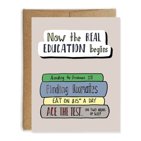 High School Graduation Card, College Education