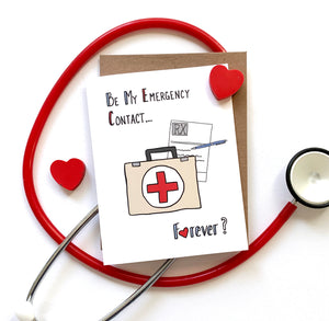 Emergency Contact, Valentine's Day Card, Pandemic Valentine - NEW