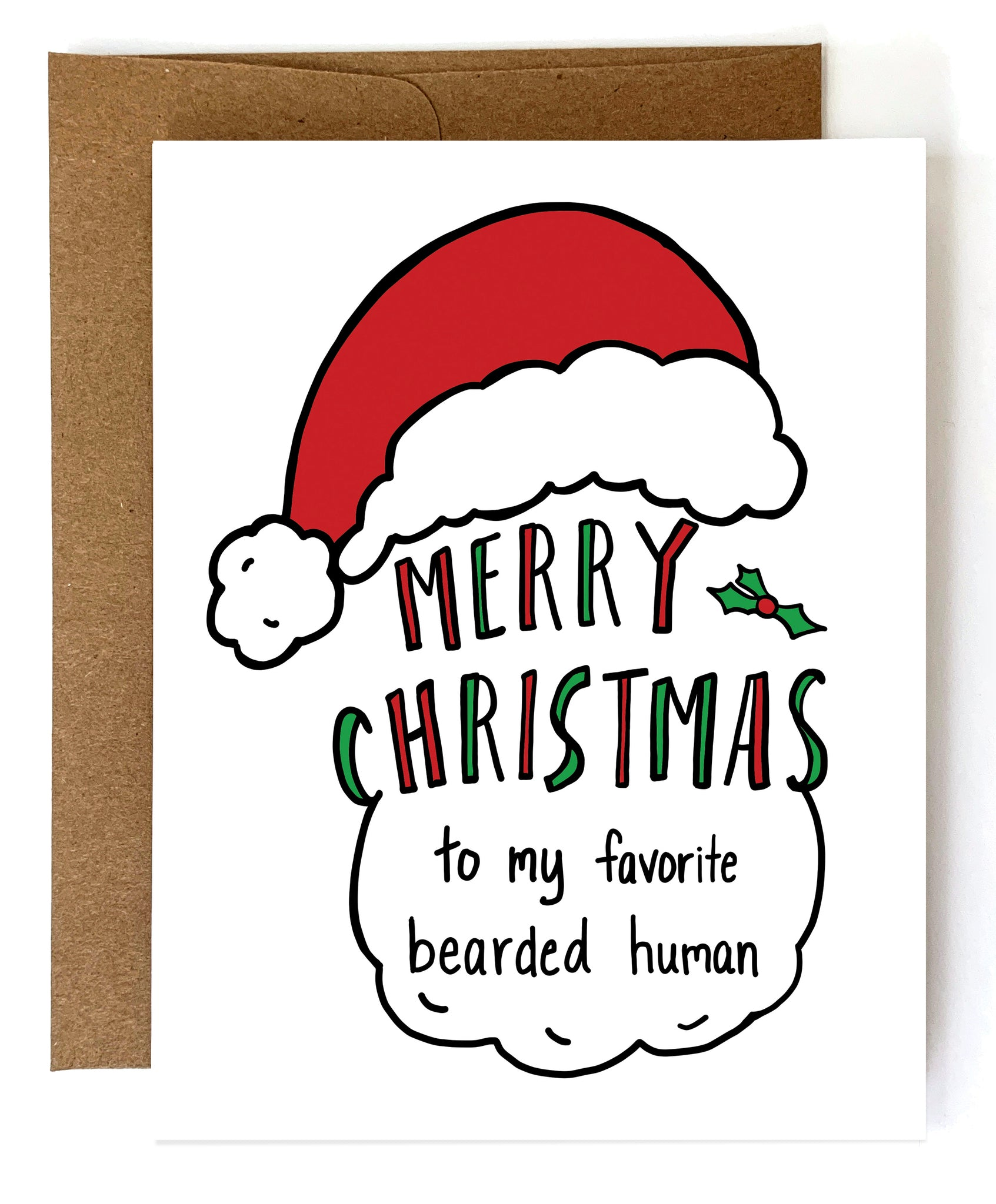 Favorite Beard, Funny Christmas Card for Boyfriend or Husband