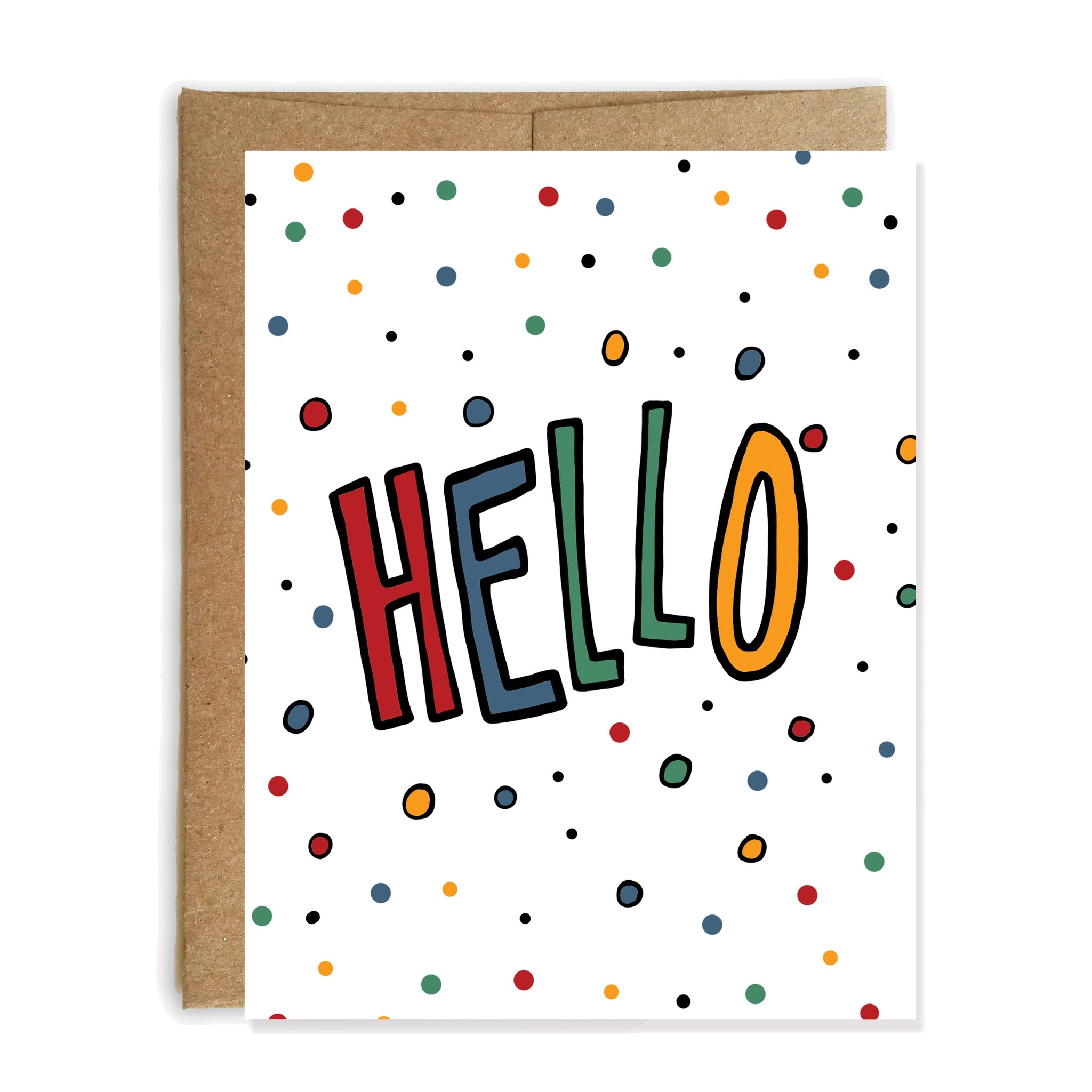 Hello Bye, Just Because Card - NEW