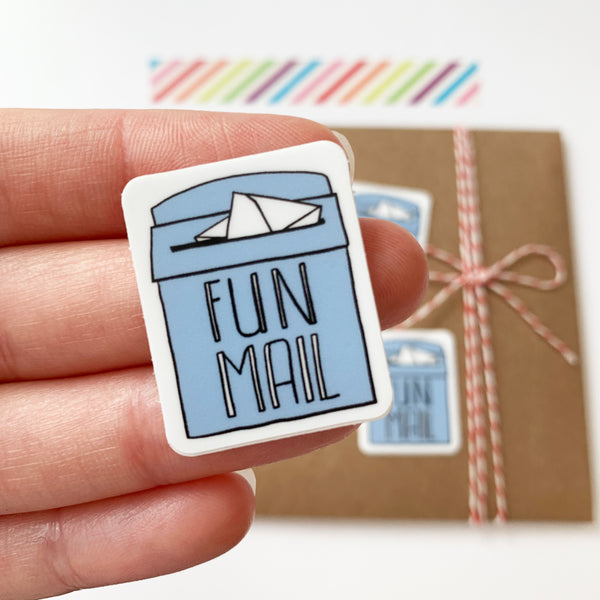 Fun Mail Sticker, Vinyl Sticker