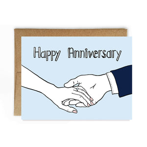Hand in Hand, Happy Anniversary Card - NEW