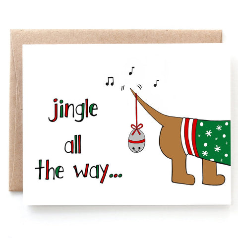 Jingle all the Way Christmas Card - Single Card or Set of 8
