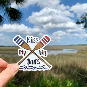Kiss My Oars, Vinyl Sticker, Rowing Sticker