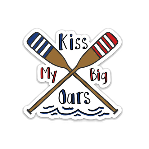 Kiss My Oars, Vinyl Sticker, Rowing Sticker - NEW