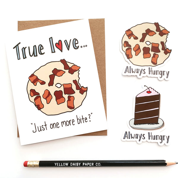 Maple Bacon Donut, Valentine's Day Card, Anniversary Card