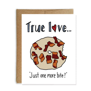 Maple Bacon Donut, Valentine's Day Card - NEW