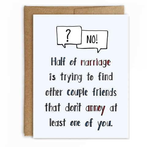 Marriage Advice, Wedding Card, Anniversary Card