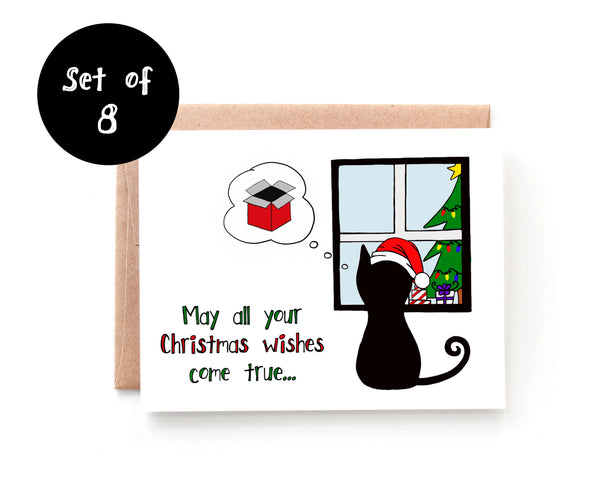 Christmas Wishes Card - Single Card or Set of 8