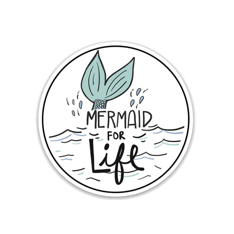 Mermaid for Life Vinyl Sticker - NEW