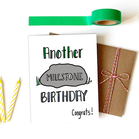 Milestone Birthday, Happy Birthday Card - NEW