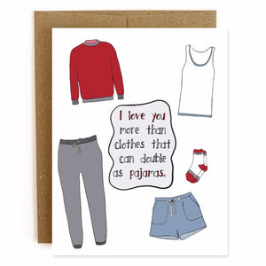 Pajama Clothes, Valentine's Day Card