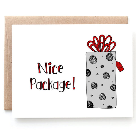 Nice Package, Funny Christmas Card for Him