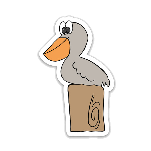 Pelican Vinyl Sticker, Bird Sticker