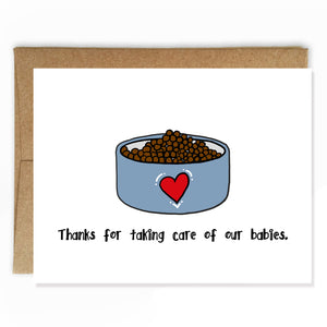 Pet Sitting Thank You Card