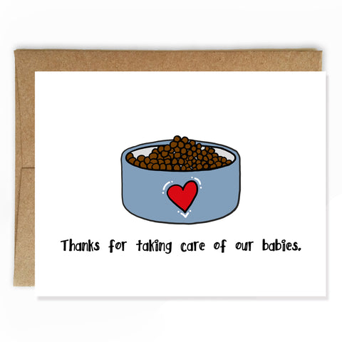 Pet Sitting Thank You Card - NEW