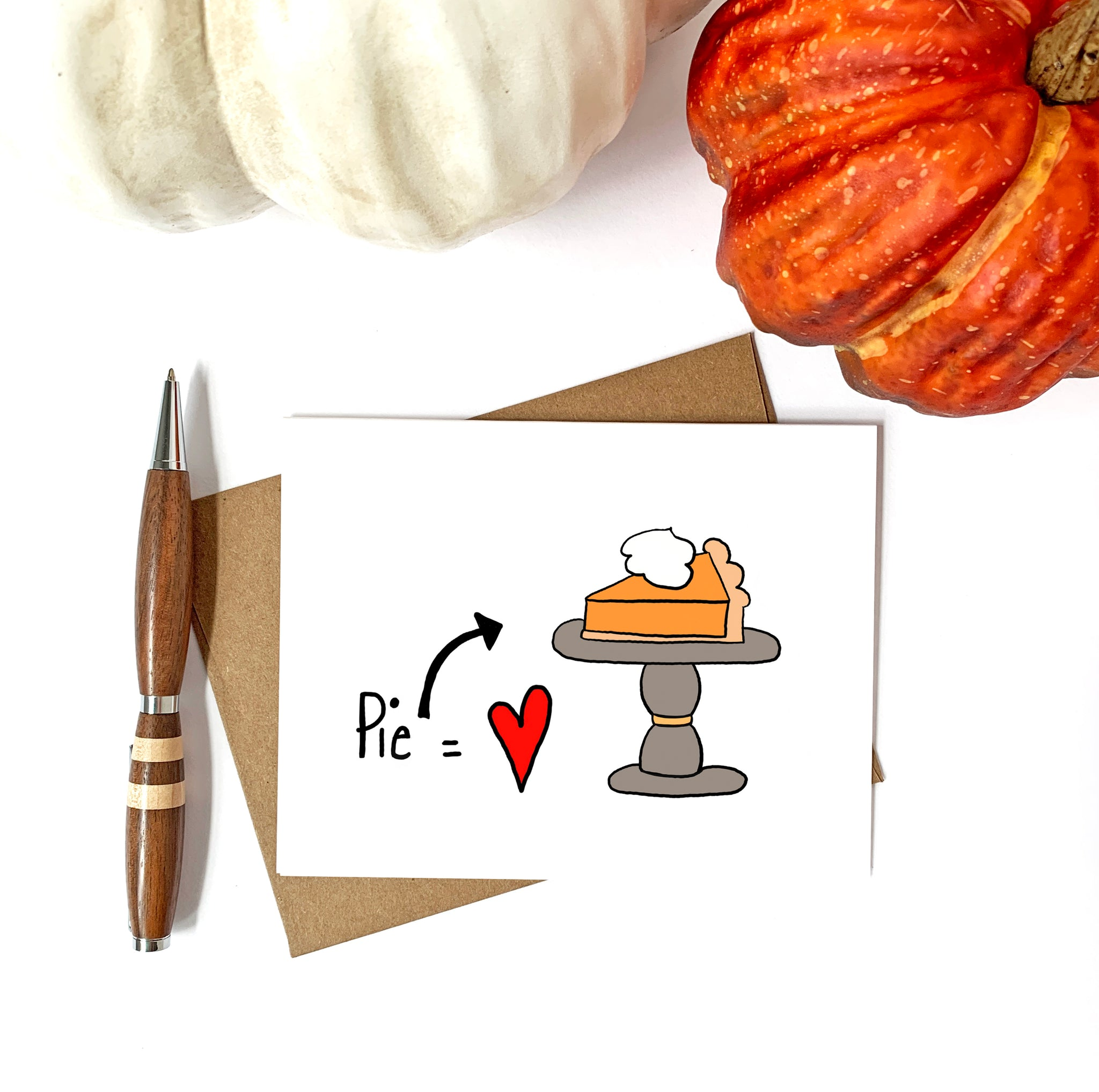 Pumpkin Pie Love Fall Card