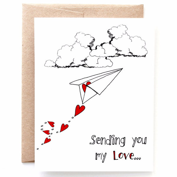 Sending You My Love, Thinking of You Card