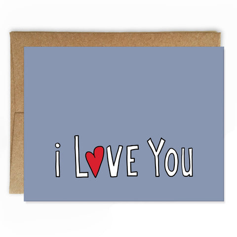 Simply Stated Love Card - NEW