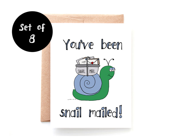 You've Been Snail Mailed, Single Card or Box of 8