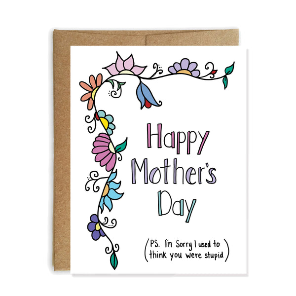 Sorry Mom, Funny Mother's Day Card