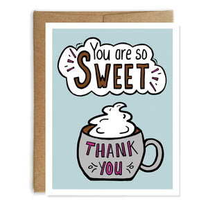 So Sweet Thank You Card - NEW