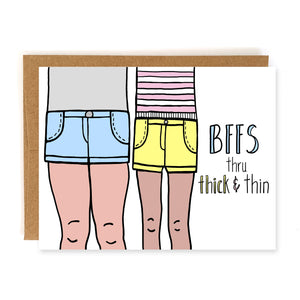 Through Thick and Thin, Friendship Card - NEW