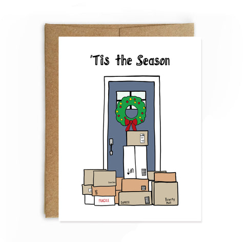 Tis' the Season Christmas Card - Single Card or Set of 8